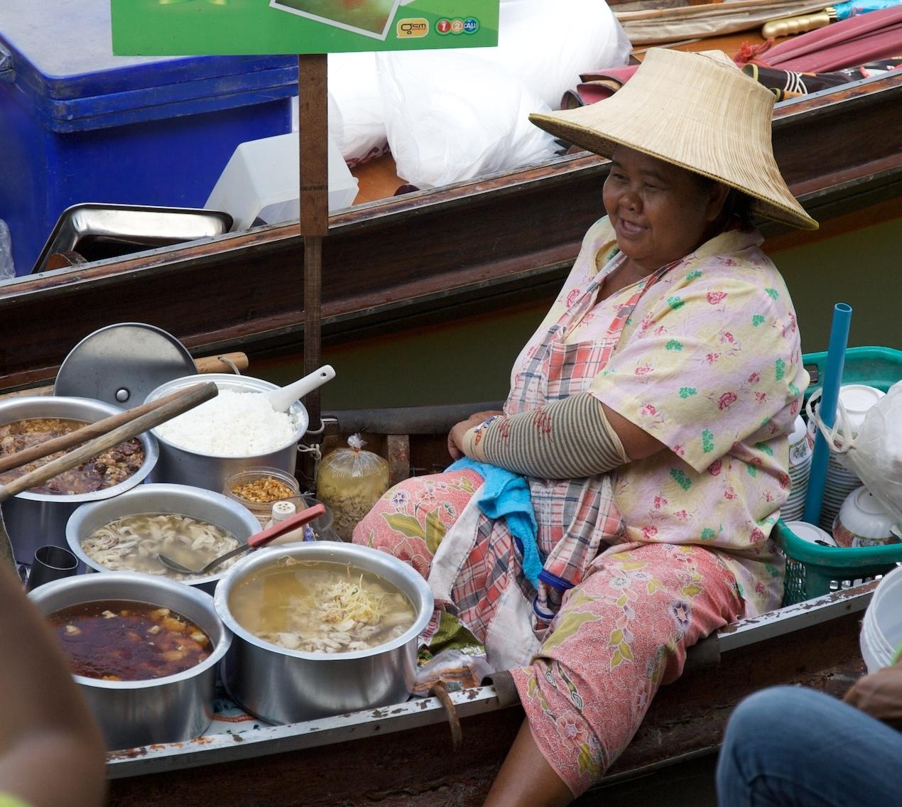 Amphawa floating market, near Bangkok
